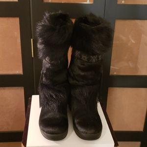 Technical  Apres ski fur black boots
